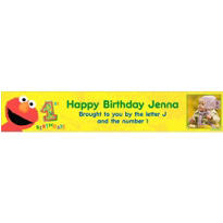 Elmo 1st Birthday Custom Photo Banner 6ft