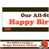 Custom Cleveland Browns Banner 6ft