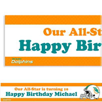 Miami Dolphins Custom Banner 6ft