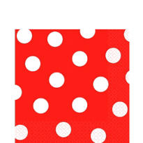 Red Dot Lunch Napkins 16ct