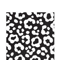 Black Cheetah Print Lunch Napkins 16ct