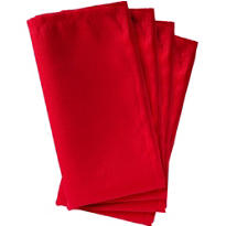 Red Fabric Napkins 4ct