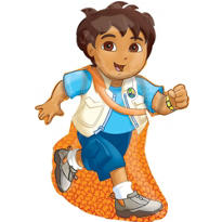Foil Go Diego Go Balloon 33in