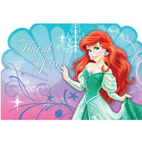 Little Mermaid Thank You Notes 8ct