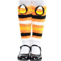Child Candy Corn Fairy Leg Warmers
