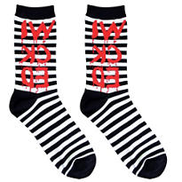 Striped Wicked Crew Socks