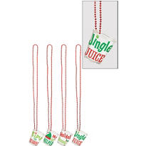 Christmas Shot Glass Necklaces 4ct