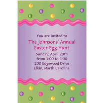 Happy Easter Egg Custom Invitation