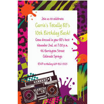 Totally 80s Custom Invitation