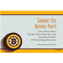 Boston Bruins Custom Invitation