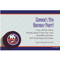New York Islanders Custom Invitation