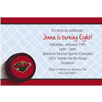 Minnesota Wild Custom Invitation