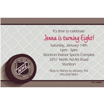 Ice Time Custom Invitation