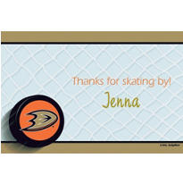 Anaheim Ducks Custom Thank You Note