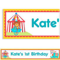Fisher Price 1st Birthday Custom Banner