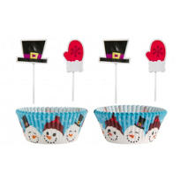 Snowman Cupcake Cupcake Decorating Kit