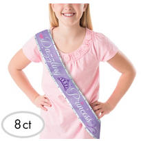 Disney Princess Metallic Birthday Sashes 8ct