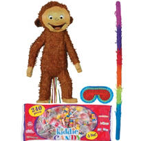 Pull String Curious George Pinata Kit