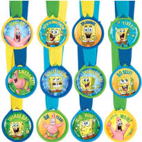 SpongeBob Award Medals 12ct