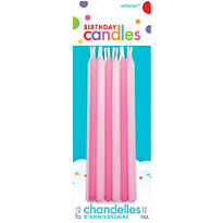 Pink Mini Taper Birthday Candles 5in 12ct