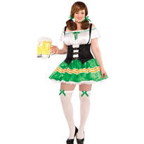 Adult Kiss Me Beer Maid Costume Plus Size