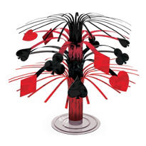 Place Your Bets Casino Mini Cascade Centerpiece 7in