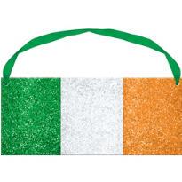 Glittery Irish Flag Sign