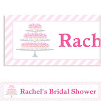 Cake of Cupcakes Custom Bridal Shower Banner