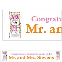 Mr. And Mrs. Right Custom Bridal Shower Banner