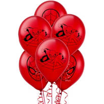 Spider-Man Balloons 12in 6ct