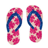 Glitter Flip-Flop Body Jewelry 2pc