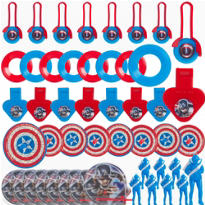 Captain America Favor Pack 48pc