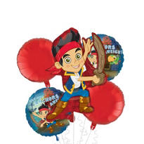 Jake and the Never Land Pirates Balloon Bouquet 5pc