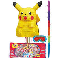 Pull String Pikachu Pokemon Pinata Kit