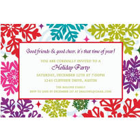 Bright Holiday Custom Christmas Invitation