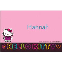 Neon Hello Kitty Custom Thank You Note