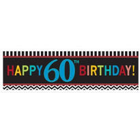 Celebrate 60th Birthday Banner 65in