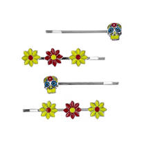 Day of the Dead Hair Pins 4ct