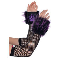 Child Purple Furry Monster High Arm Warmers