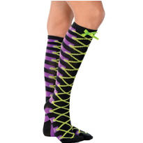 Lace-Up Witch Knee-High Socks