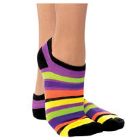 Halloween Stripes Ankle Socks