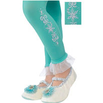 Child Footless Elsa Tights - Frozen