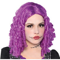 Purple Doll Wig