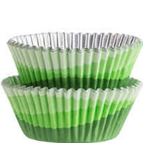 Green Ombre Foil Baking Cups 36ct