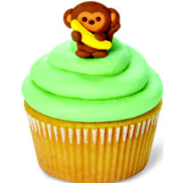 Monkey Icing Decorations 12ct