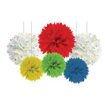Balloon Fun Fluffy Decorations 6ct