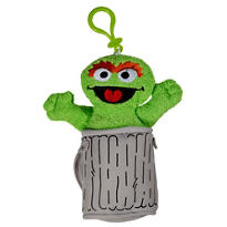 Clip-On Sesame Street Oscar the Grouch Monster Plush