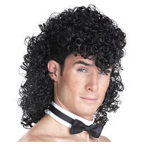 Girls' Night Out Curly Black Wig Set