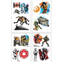 Star Wars Rebels Tattoos 1 Sheet