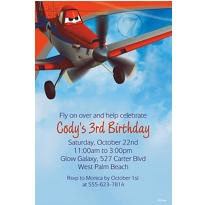 Planes Custom Invitation
